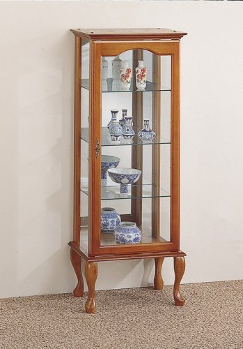 Image of Oak Finish Curio Display Cabinet (VF_AZ03-633)