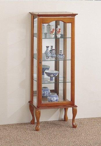 Image of Oak Finish Curio Display Cabinet (VF_AZ03-633)