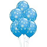 "Snowflakes & Sparkles Robins Ei-Blau 11 ""Qualatex ..."