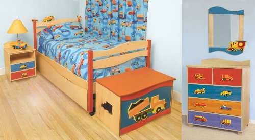 Image of Room Magic Boys Like Trucks Bedroom Set Kids Bed (RM139-BT)
