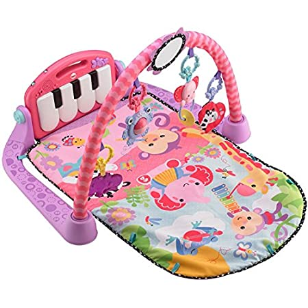 Baby kicks. Music plays. And that's just the beginning of this sweetly styled, oh so pink gym. Movable toys on the overhead gym encourage baby to bat and grasp. Move the arch down for tummy time play, or let baby sit and entertain you with a piano co...