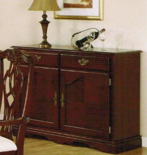 Image of Server Sideboard with Gold Handles in Cherry Finish (VF_F6072)