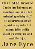 A4 Size Parchment Card Poster Charlotte Bronte, Jane Eyre Live Alone