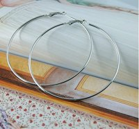STAYJOY Fashion Large (4-inch) Hoop Earring Pair (SILVER ...