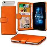 Lenovo S60 Adjustable Spring Wallet ID Card Holder Case Cover (Orange) Plus a FREE Stylus Pen. Get Best Valued Case On Amazon Now - By FinestPhoneCases