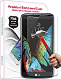 LG K10 Screen Protector, PThink Premium Tempered Glass Screen Protector for LG K10 with 9H Hardness/Anti-scratch/Fingerprint resistant