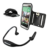 Protective Phone Armband + Bluetooth Sport Earphones Set for ZTE Blade C & D6 & Q Mini & S6 & V6 & Vec & Vec 3