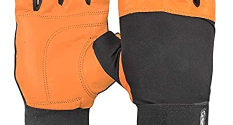 Nivia Leather Gym Gloves With Wrist Wrap