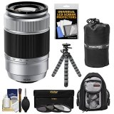 Fujifilm-50-230mm-f45-67-XC-OIS-Zoom-Lens-Silver-with-3-UVCPLND8-Filters-Backpack-Tripod-Kit-for-X-A2-X-E2-X-E2s-X-M1-X-T1-X-T10-X-Pro2-Cameras