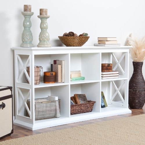 Image of The Hampton Console Table Stackable Bookcase - White (KY277-WT)