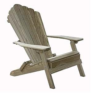Amazoncom Folding Adirondack Chair In Pine Lawn