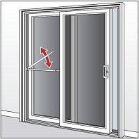 Ideal Security Inc. SK110W Patio Door Security Bar, White ...