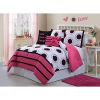 Amazon.com - Girls Kids Bedding- Amy Comforter Set Black ...