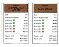 Amazon.com: Monopoly Brown Deed Cards - Mediterranean ...