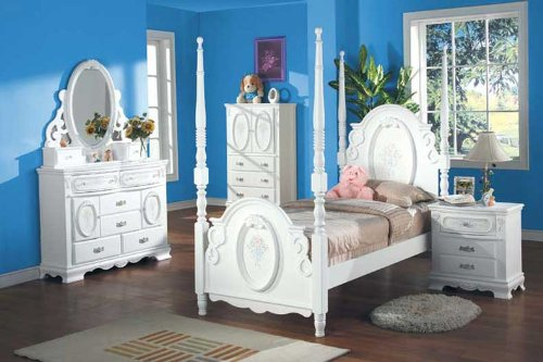 Image of New 4pcs Youth Kid Full Girl Bedroom Set, #A1657T (A1657T)