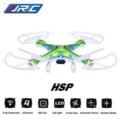 Megadream-JJRC-H5P-Gyro-24-Telecontrol-3D-Roll-6-Axis-Grop-RTF-Drone-LED-Lights-Headless-Mode-20MP-HD-Camera-4-Channel-360-Flip-Automatic-Return-1100mAh-RC-Quadcopter