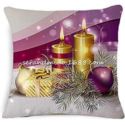 Pillowcase, Ammazona Square Festival Decoration Merry Christmas Pillow Case Cushion Cover (A)