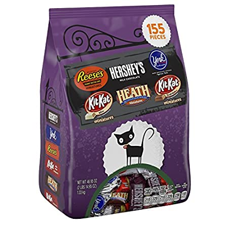 Be ready for your trick-or-treaters this Halloween with a fabulous assortment of Hershey's candy! Boasting 155 individually wrapped pieces per bag, you'll have enough for the whole neighborhood! Complete with Hershey's Milk Chocolate, Reese's Peanut ...