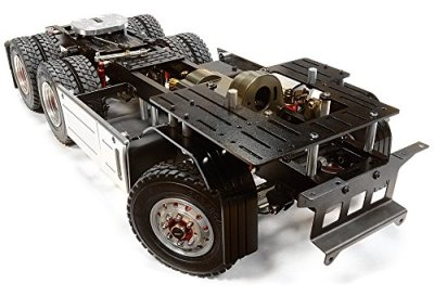 Integy-RC-Hobby-C26050GUN-Billet-Machined-Rolling-Chassis-for-Custom-114-Semi-Tractor-Truck