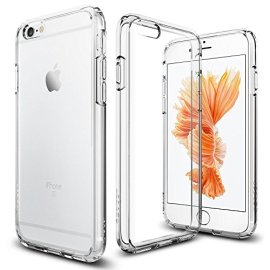 Cover-iPhone-6S-Spigen-Cover-iPhone-6-Assorbimento-Urto-Ultra-Hybrid-Crystal-Clear-Aria-Cuscino-Tecnologia-di-Assorbimento-Custodia-iPhone-6S-Custodia-iPhone-6-SGP11598
