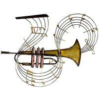 Trumpet Swirl - Contemporary Metal Wall Art: Amazon.co.uk ...
