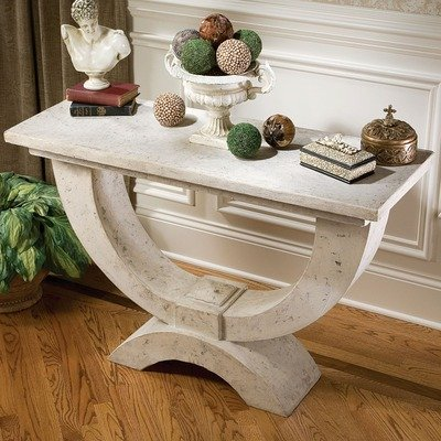 Image of The Moderno Arch of Stone Console Table (NE70603)