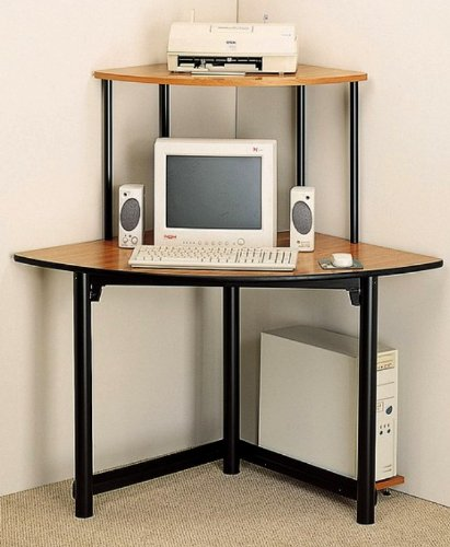 Picture of Comfortable Altus Corner Metal/Wood Computer Desk Workstation (B003Y5ACOW) (Computer Desks)
