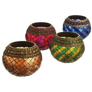 Amazoncom Set Of 4 Elegant Mosaic Glass And Jeweled