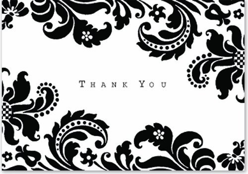 Thank You Cards Black And White - lektoninfo - printable thank you cards black and white