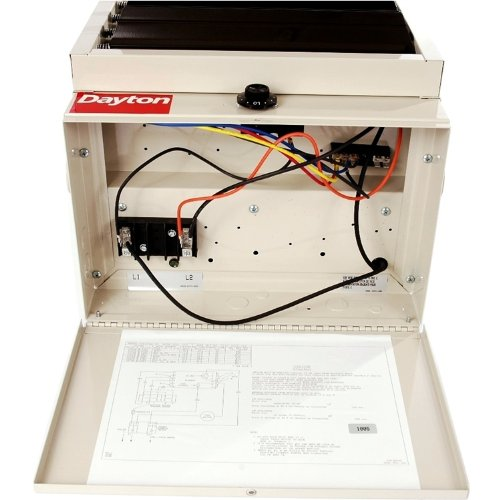 Dayton 3ug73 garage heater with builtin thermostat