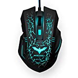 HAVIT HV-MS672 Ergonomic Wired Mouse, 2400 DPI, 7 Soothing LED Colors, 6 Buttons [ 2016 Model ]