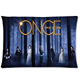 Once Upon A Time Home Decorative Pillow Covers 20X30 Inch 2 Sides Printed Soft Cotton Pillowcases