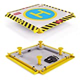 Remote Control Helicopter Landing Pad - Complete Edition - LED Lights Installed - Suitable for RC Helicopters, Quadcopters, Drones, Syma Helicopters