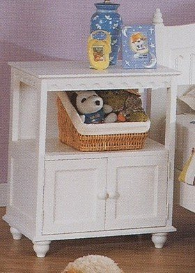 Image of Cape Cod Style Kid Bedroom White Finish NightStand (VF_F4325)
