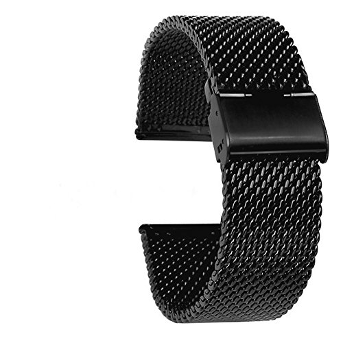 Jinsen-22mm-Stainless-Steel-Bracelet-Watch-Band-Strap-Straight-End-Solid-Links-for-Pebble-Time-SteelClassicZenWatchSamsung-Gear-2-G-Watch-black-mesh-22mm