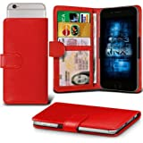 Huawei Enjoy 5s Adjustable Spring Wallet ID Card Holder Case Cover (Red) Plus a FREE Stylus Pen. Get Best Valued Case On Amazon Now - By FinestPhoneCases