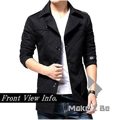 (メイク トゥ ビー) Make 2 Be スタイリシュ メンズ ジャケット 秋 冬 先取り テラード ジャケット テラジャケ コート MA02(ブラック_Lサイズ)