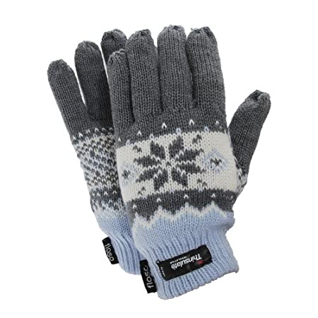 Quality ladies gloves with Thermal Warmth. Fibre contents for outer 100% acrylic and inner 65% Polypropylene, 35% Polyester.
