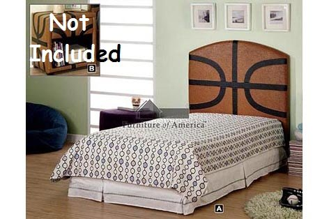 Image of Kid Youth Basketball Twin Size Headboard (CM7103)