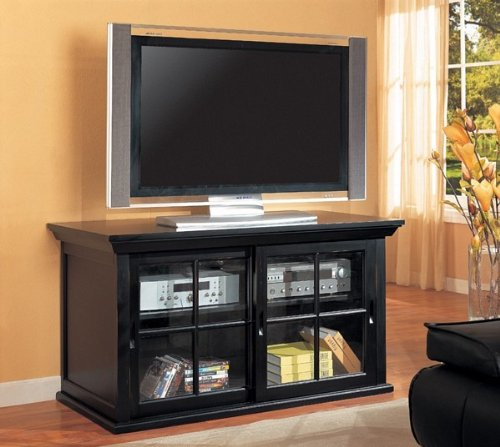 Image of Black Entertainment Console Table Plasma LCD TV Stand (VF_AZ00-10860x30035)