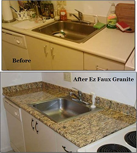 Granite Counter Top Venetian Gold Granite Peel And Stick