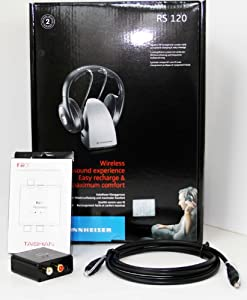 Sennheiser RS120 Wireless RF Headphones with FiiO D03K (D3) Optical Audio Connection Kit