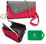 Phone holder w/ wallet- includes cross body chain- Universal design fits Huawei Ascend Y320/Huawei Ascend G740/Huawei Ascend Y511