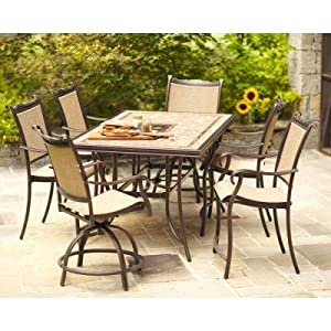 Amazoncom Hampton Bay Westbury 7 Piece Patio High
