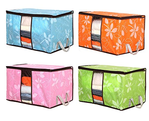 San Tokra 4pcs Foldable Home Quilt Pillow Blanket Clothing