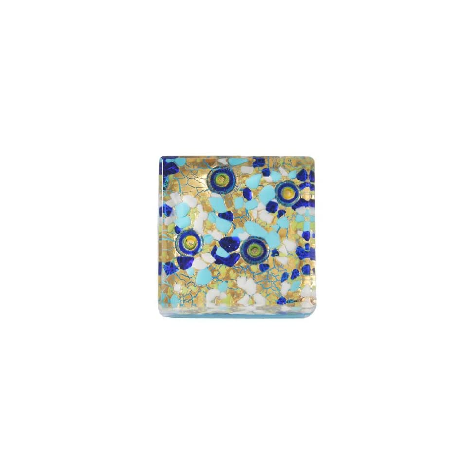 Arte Murano Icet Elephant 25 Capri Murano Glass Paperweight Square Blue On Popscreen