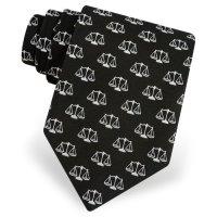 Compare Black Microfiber Tie | Scales Of Justice Necktie ...
