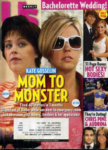 Allegra Versace 32 Us Weekly June 1 2009 Kate Gosselin on Cover Mom to Monster x