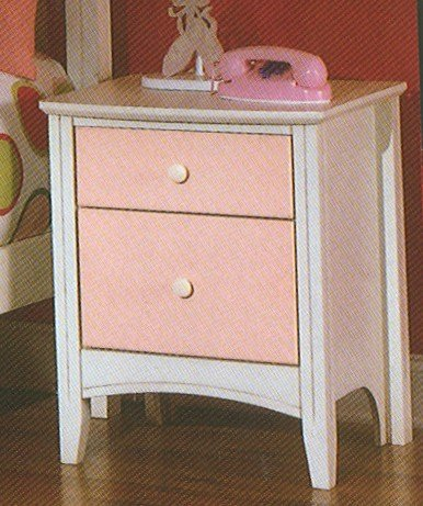 Buy low price kid s antique white pink nightstand for Buy white bedside table