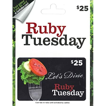 Some have a gift for great food. Others would love to get one from you. So purchase a Ruby Tuesday gift card and reward your friends and family with fresh, delicious Ruby Tuesday selections. From our Fresh Garden Bar to Americas best burger, from aff...